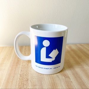 Vintage Ceramic Library Pedestrian Coffee Mug